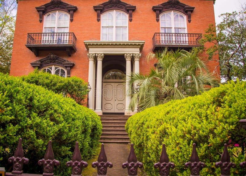 Entrance to a house Savannah Georgia stock image