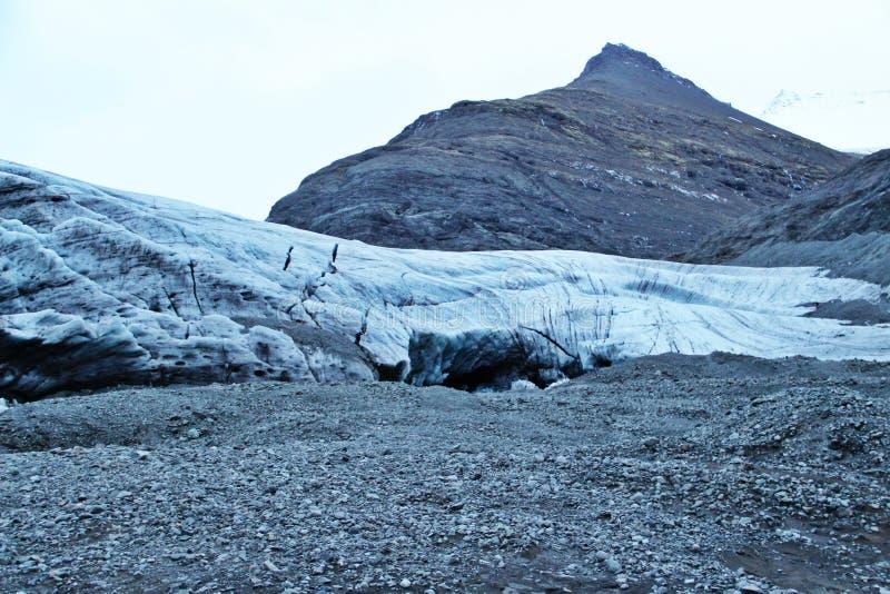 Entrance to Icelandic ice cave stock photo