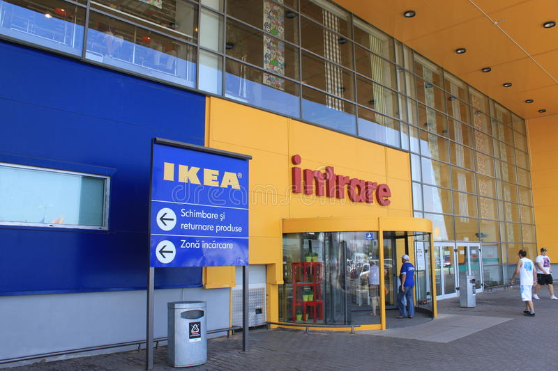 Download Entrance to Ikea Bucharest editorial stock image. Image of logo - 32260909