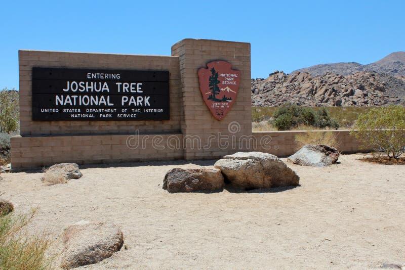 Entrance to Joshua Tree National Park royalty free stock photos