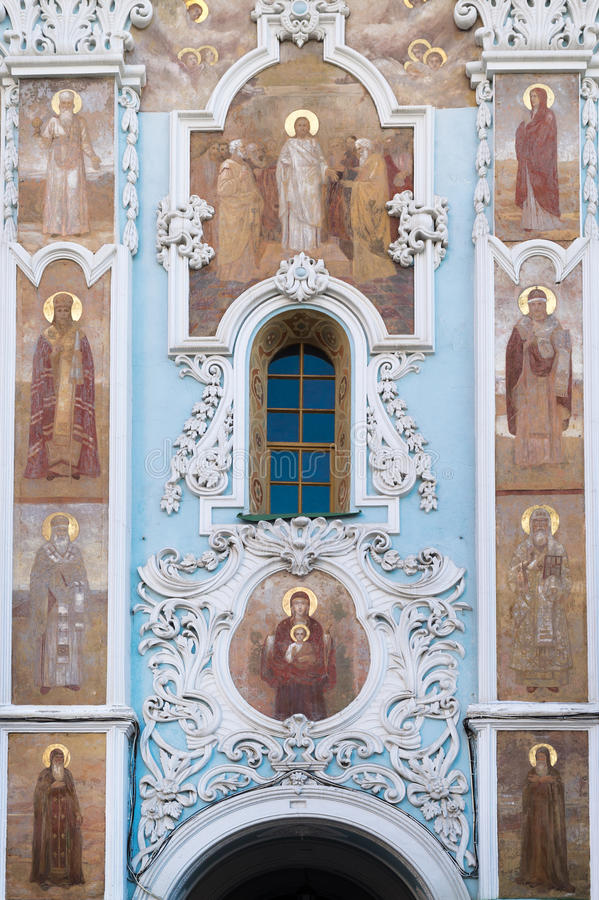 Entrance to Lavra stock images
