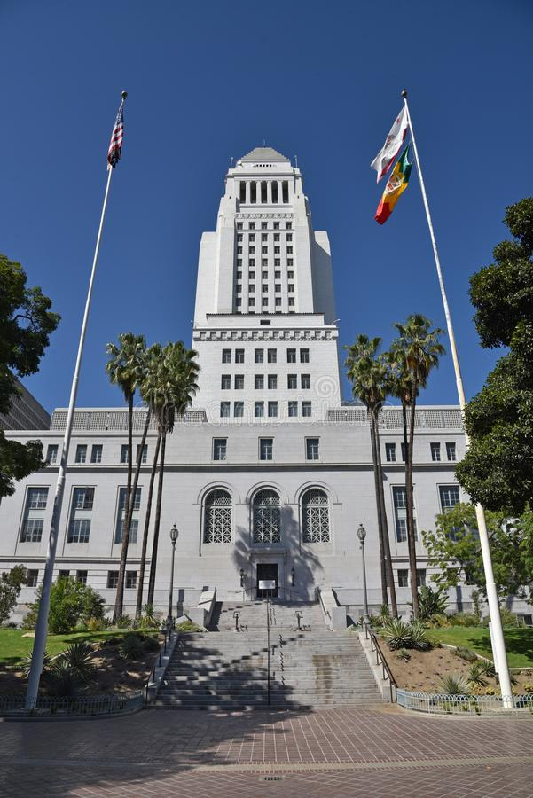 Entry to Los Angeles City Hall royalty free stock photo