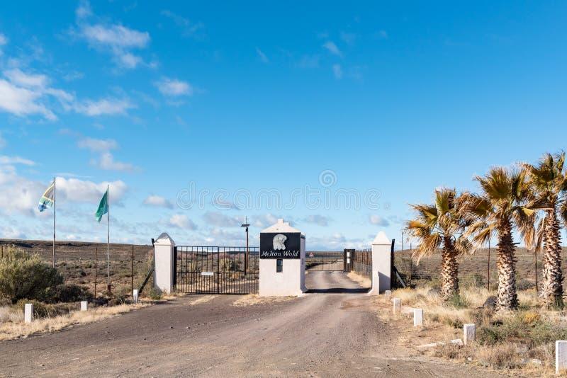 resort entrance landscape stock images