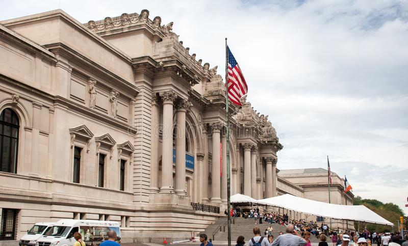 Entrance to Metropolitan Museum of Art in New York City. Usa stock image