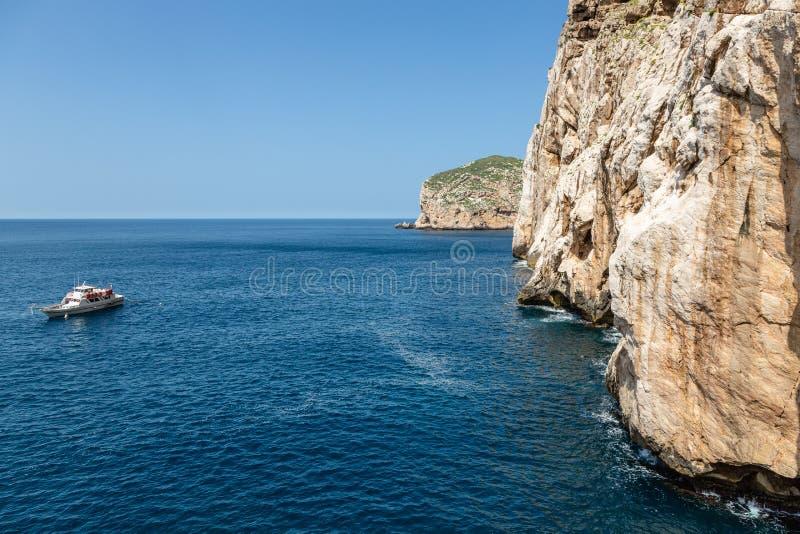 At the entrance to Neptune`s cave, Sardinia. At the entrance to Neptune`s cave on `Capo Caccia` on the island of Sardinia stock photos