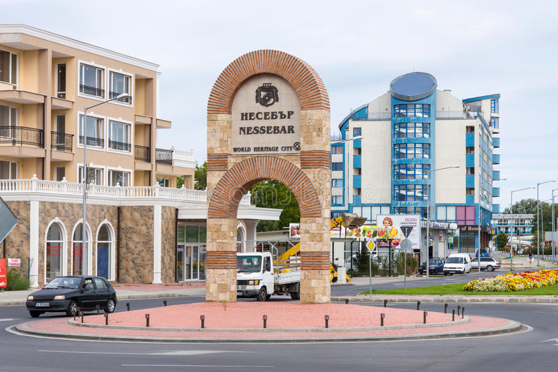 The entrance to Nessebar, Bulgaria royalty free stock photos