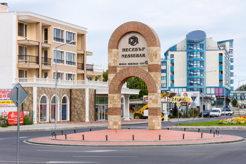 The entrance to Nessebar in Bulgaria royalty free stock photography