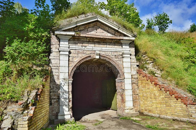 Entrance to old fortress. royalty free stock photos