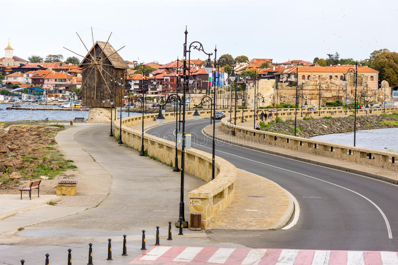 Entrance to the old Nessebar in Bulgaria stock photography