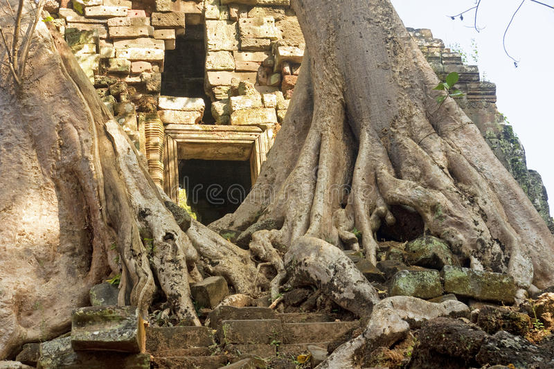 Entrance to one of the old temples royalty free stock photography