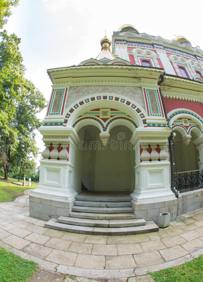 Entrance to the Orthodox Cathedral royalty free stock image