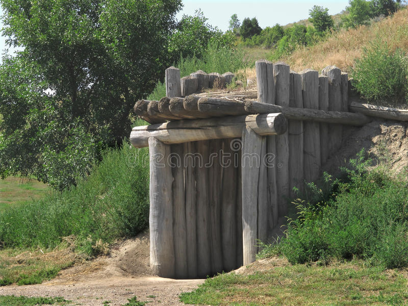 Download Entrance To A Plains Indian Earth House. Stock Photo - Image: 26176038