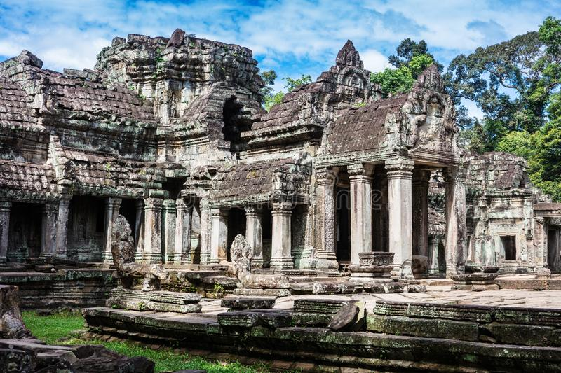 Entrance to Preah Khan temple. Entrance to ancient Preah Khan temple in Angkor stock photo