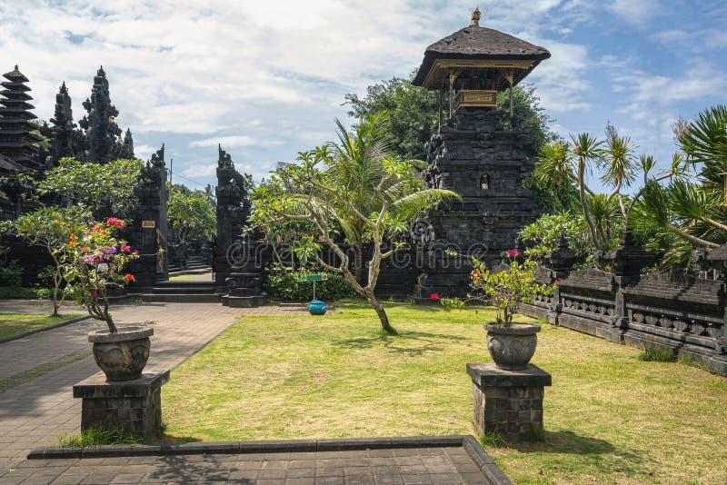 An entrance to Pura Goa Lawah on Bali island, Indonesia royalty free stock photos