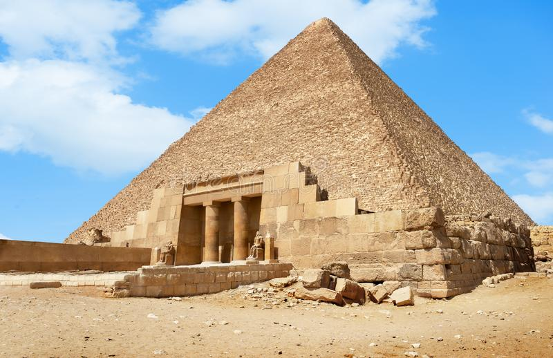 Entrance to the pyramid royalty free stock images