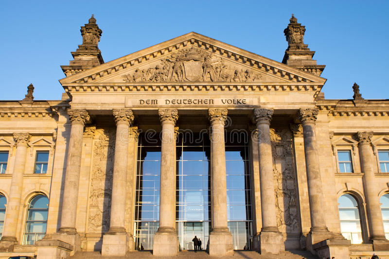 Download Entrance to the Reichstag stock image. Image of portico - 23827835