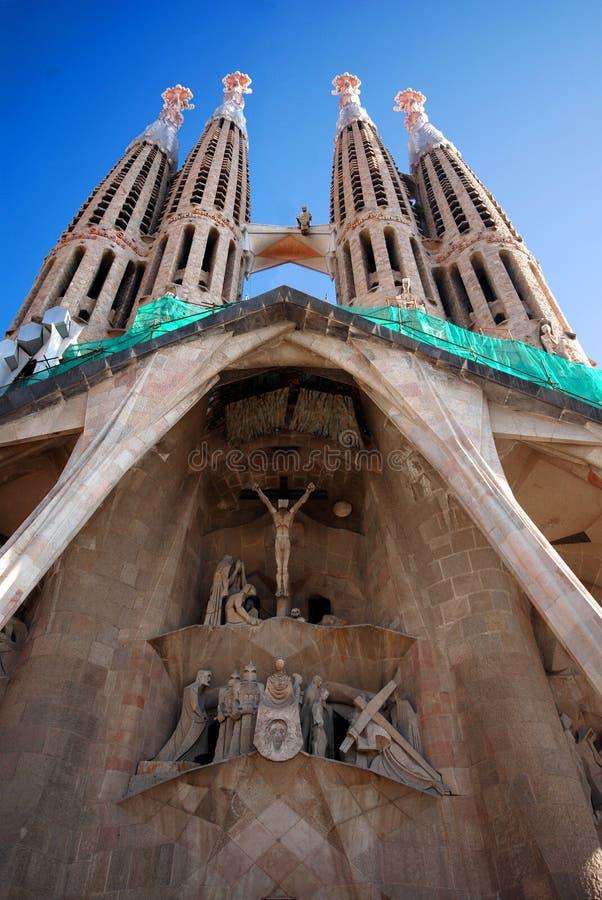 Entrance to Sagrada Familia royalty free stock photos
