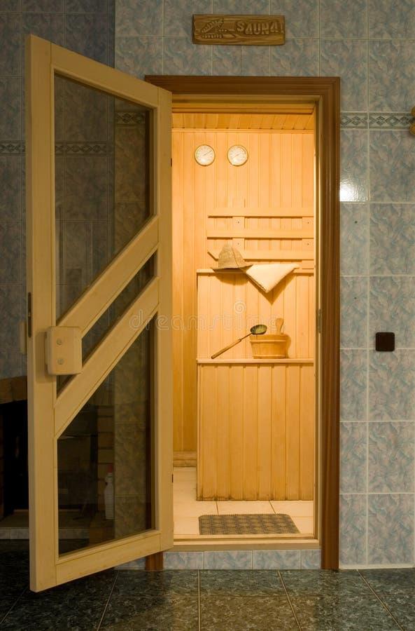 Download Entrance to the sauna stock image. Image of cedar, healthcare - 14658479