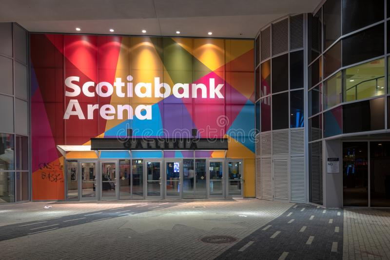 The Scotiabank Arena gallery entrance, Toronto, Canada royalty free stock photography