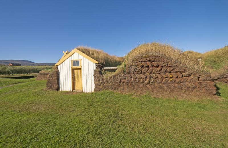 Entrance to a Sod House with Wall Details royalty free stock images