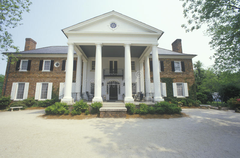 The entrance to a Southern plantation, royalty free stock image