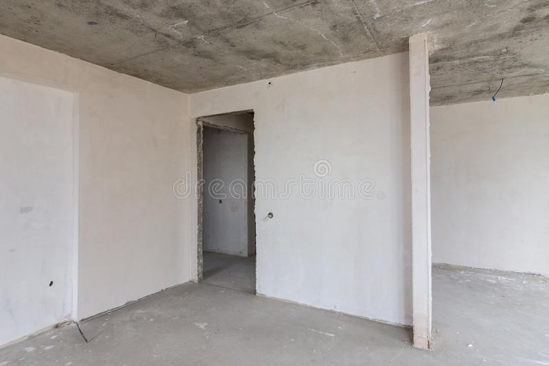 Entrance to the spacious room in the rebuilding royalty free stock photo