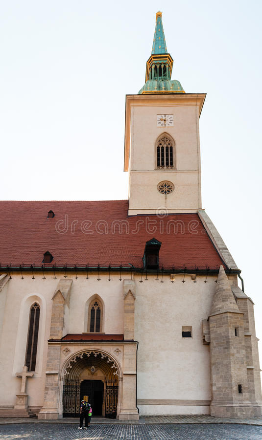Free Entrance To St. Martin Cathedral In Bratislava Stock Photo - 61289120