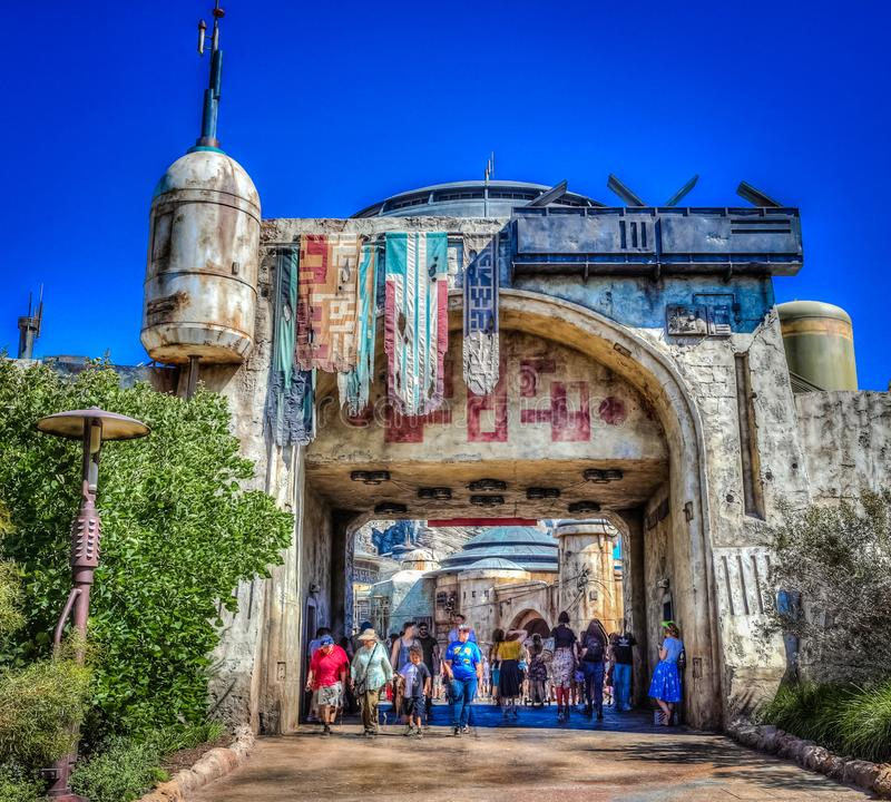 Free Entrance To Star Wars Galaxy`s Edge - Disneyland Royalty Free Stock Photography - 154921447