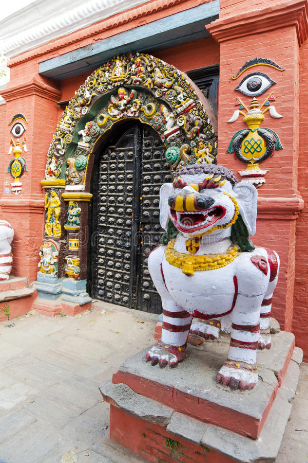 Entrance to Sundari Chowk, Kathmandu, Nepal. Image of the decorated entrance to the royal courtyard of Sundari Chowk at UNESCO's World Heritage Site of Kathmandu stock images