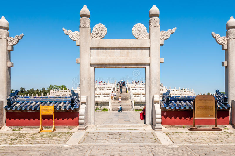 Download Entrance To Temple Of Heaven Editorial Stock Image - Image: 34096364