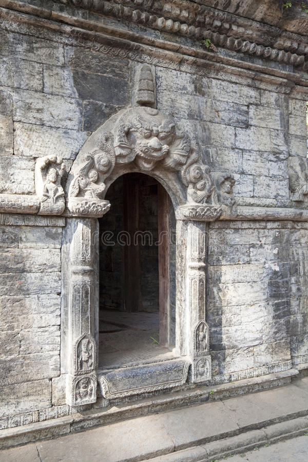 Entrance to Temple at Pashupatinath, Nepal royalty free stock photos