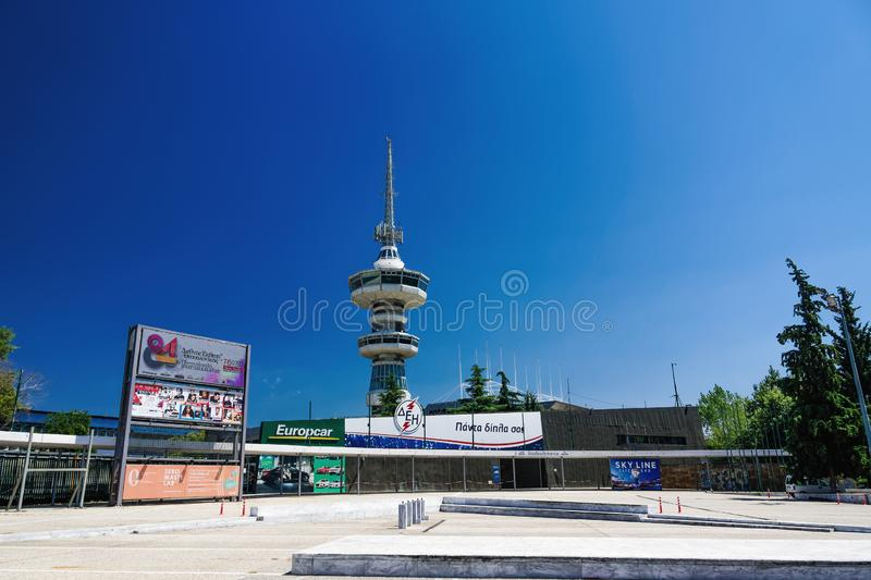 Entrance to TIF 84rth International fair in Thessaloniki, Greece. 84rth Thessaloniki International Fair takes place from 7 to 15 September 2019. India is the royalty free stock photos