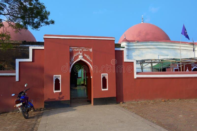 Entrance to Ulugh Khan Jahan's mausoleum in Bagerhat, Bangladesh. BAGERHAT, BANGLADESH - FEBRUARY 17, 2014: Entrance to Ulugh Khan Jahan's mausoleum on February royalty free stock photography
