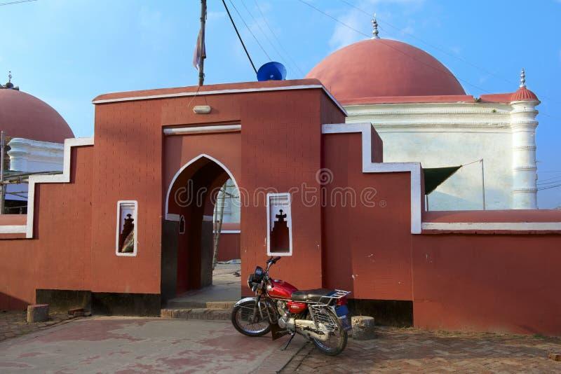 Entrance to Ulugh Khan Jahan's mausoleum in Bagerhat, Bangladesh. BAGERHAT, BANGLADESH - FEBRUARY 17, 2014: Entrance to Ulugh Khan Jahan's mausoleum on February stock photo