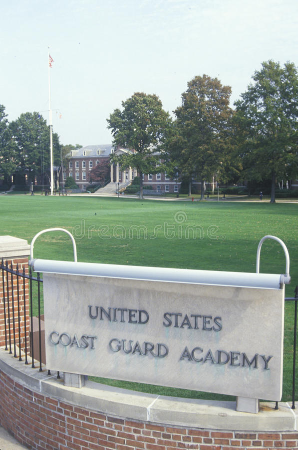 Entrance to the United States Coast Guard Academy, New London, Connecticut stock photography