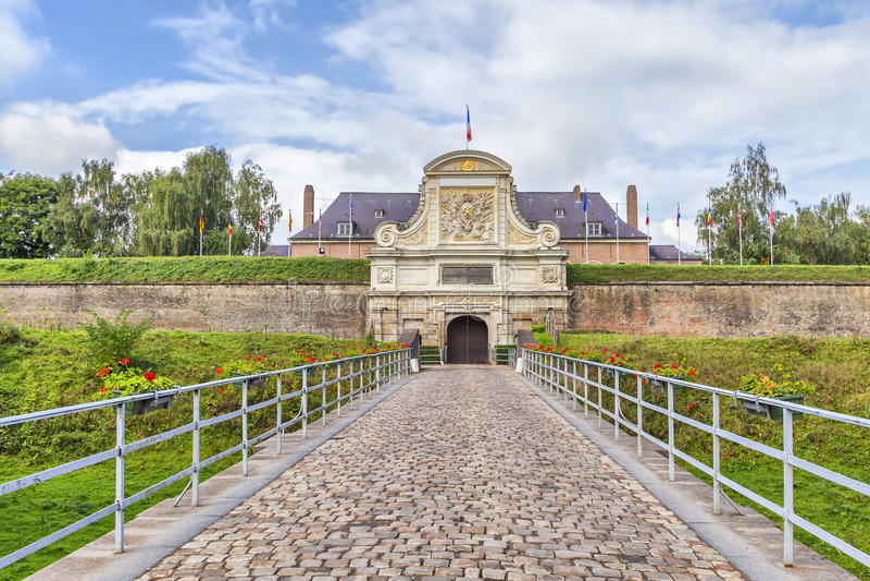 Entrance to the Vauban Citadel , Lille. Entrance to the Vauban Citadel (17th century), Lille, France royalty free stock photography