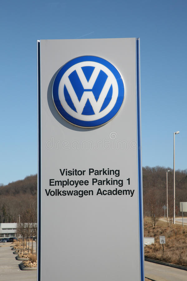 entrance   volkswagen plant  chattanooga tennessee editorial photography image  jobs