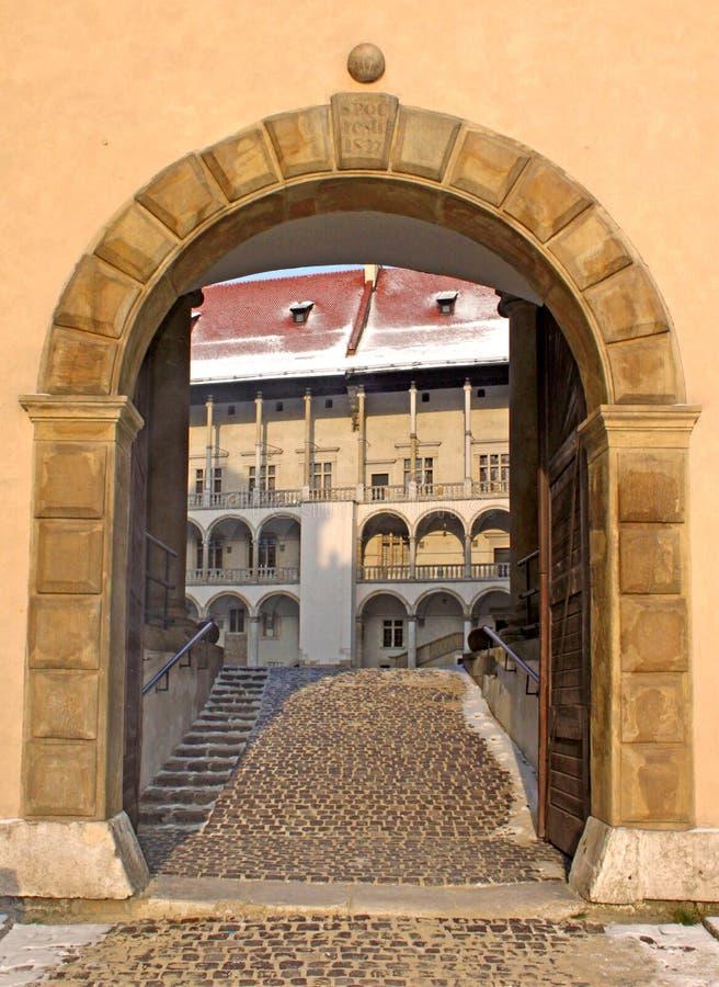 Entrance To Wawel Palace Stock Image