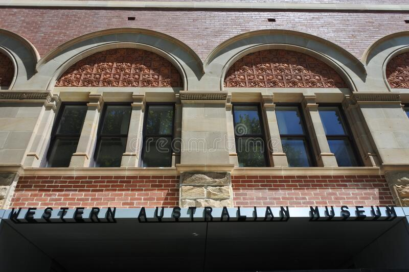 The entrance to Western Australia Museum in Perth Cultural Centre royalty free stock image