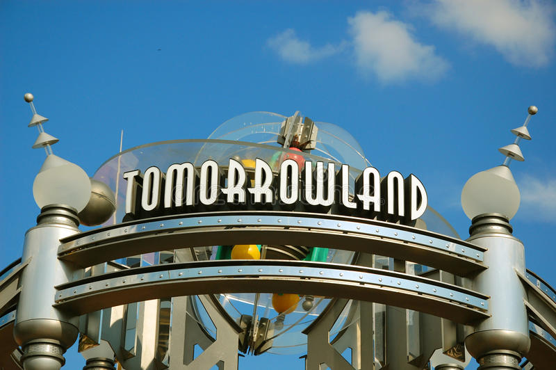 Download Entrance of Tomorrowland editorial photography. Image of disneyland - 30563157