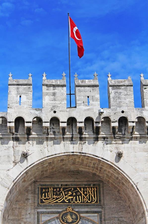 Entrance in Topkapi Palace, Istanbul, Turkey royalty free stock photos