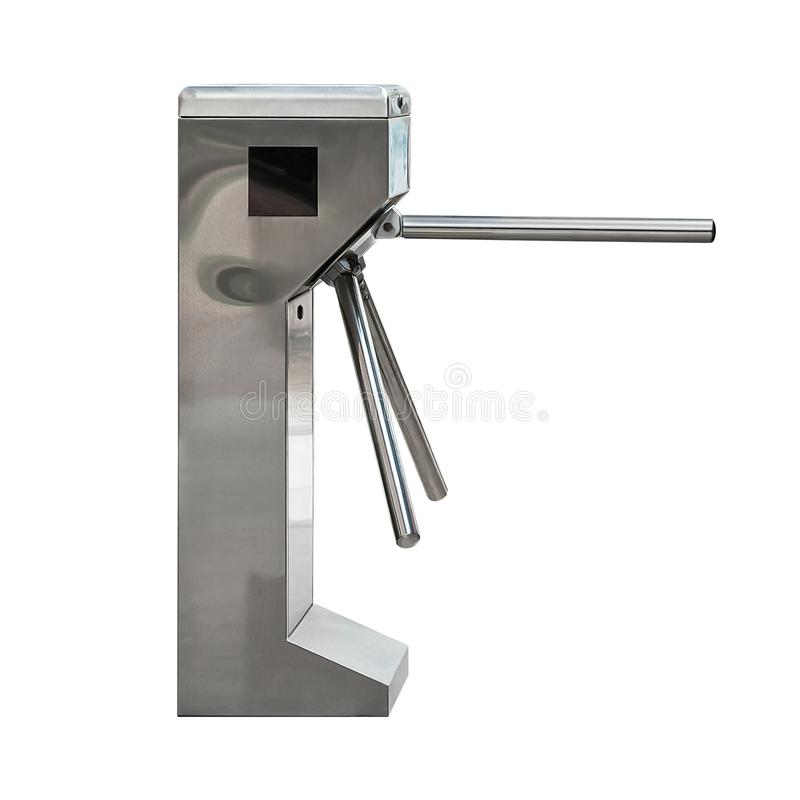 Entrance turnstile isolated stock photography