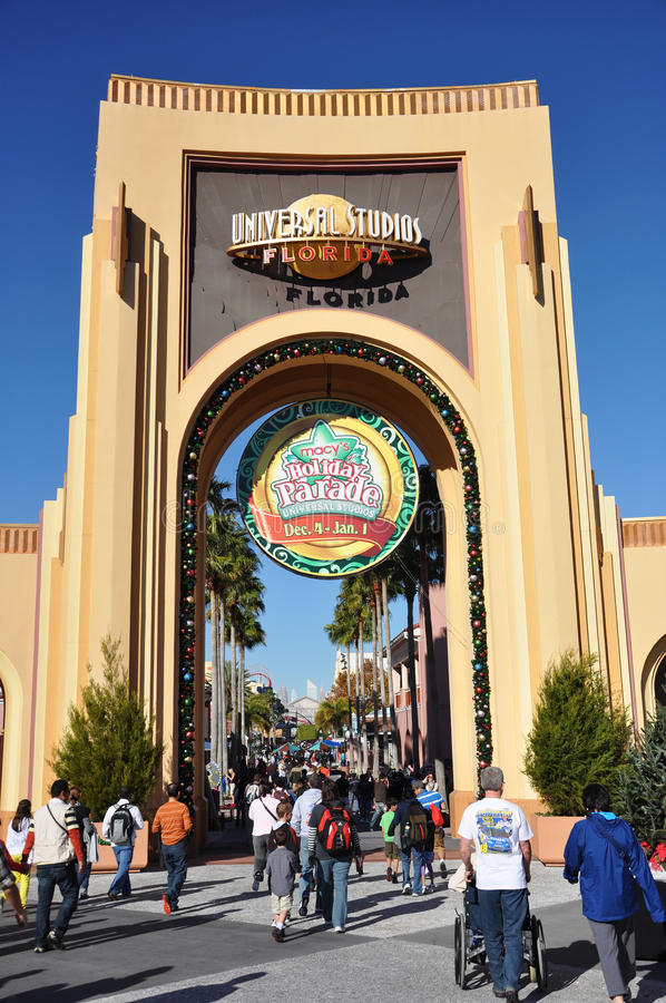 Entrance Of Universal Studios Orlando Editorial Stock Photo