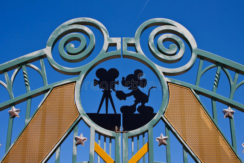Entrance in Walt Disney Studios royalty free stock images