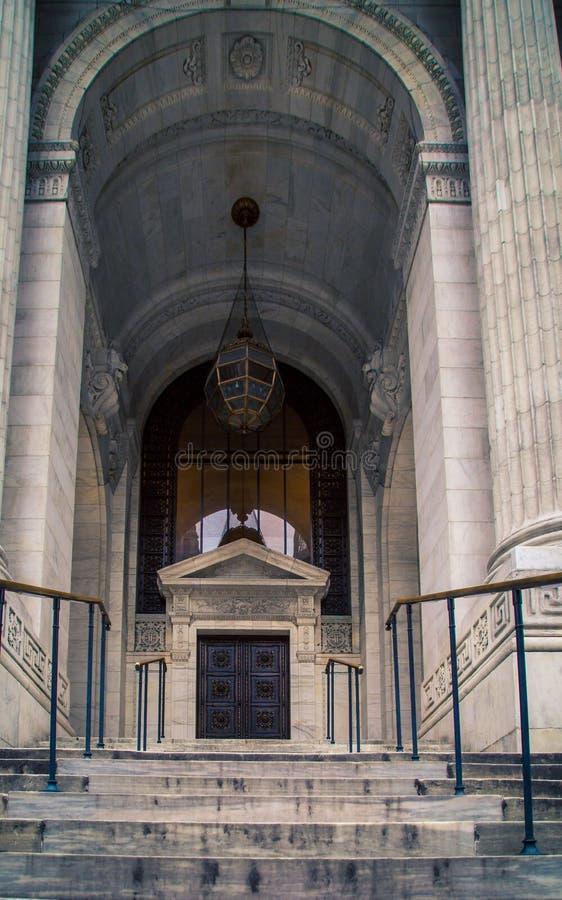 Entrance way and pillars royalty free stock photo