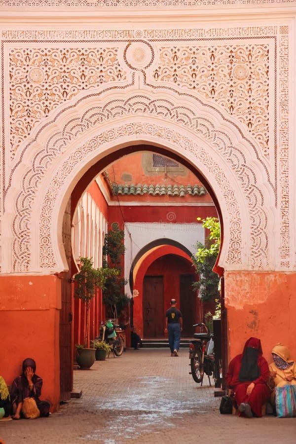 Free Entrance.Zaouia Sidi Bel Abbes. Marrakesh. Morocco Stock Photo - 107015490