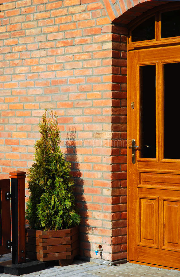 Entrance zone of a house. Doorway to a house, travel Poland royalty free stock photo