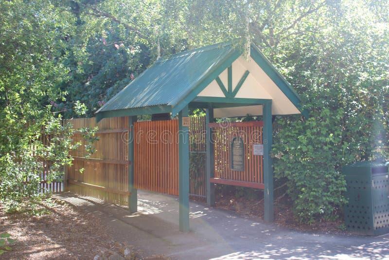 Entranceway aux jardins botaniques de Ballarat photo libre de droits