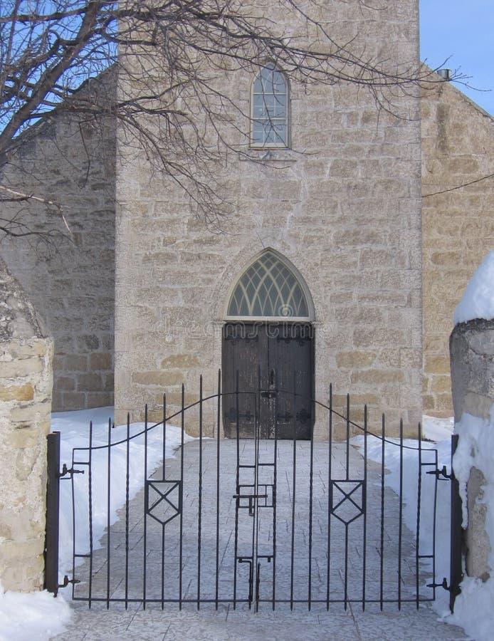 Entranceway a la iglesia foto de archivo libre de regalías