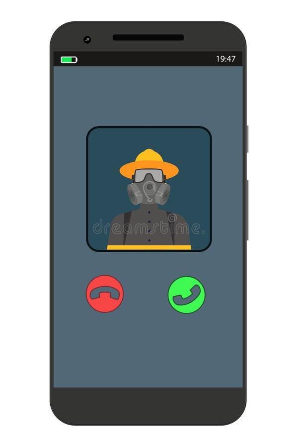Entrante chamar o telefone ilustração stock
